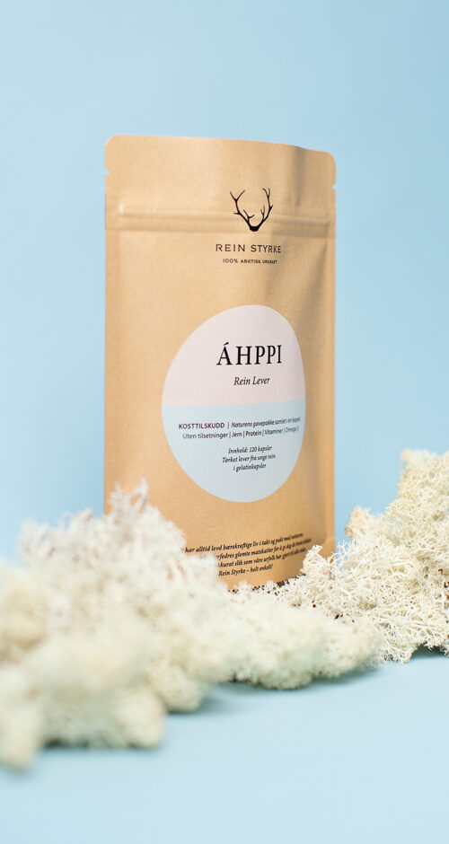 Et norsk og 100% naturlig kosttilskudd laget av tørket lever fra reinsdyr - Áhppi Rein Lever